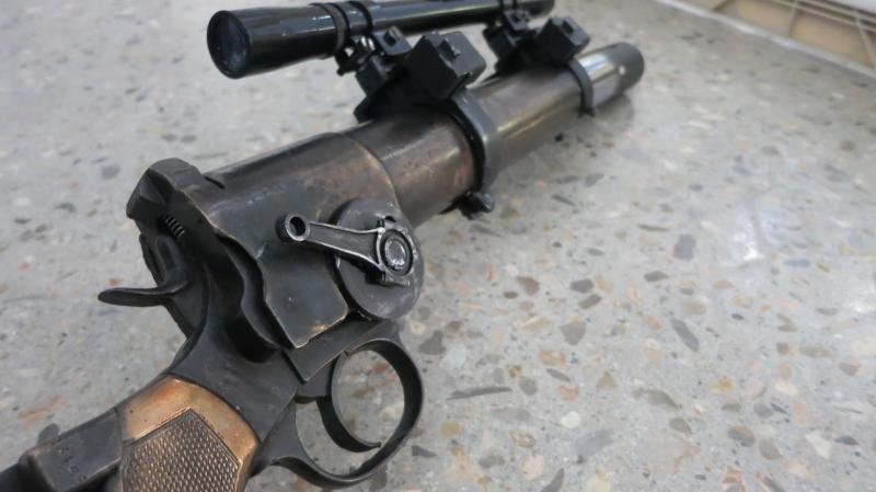 Close up of Boba Fett Rifle