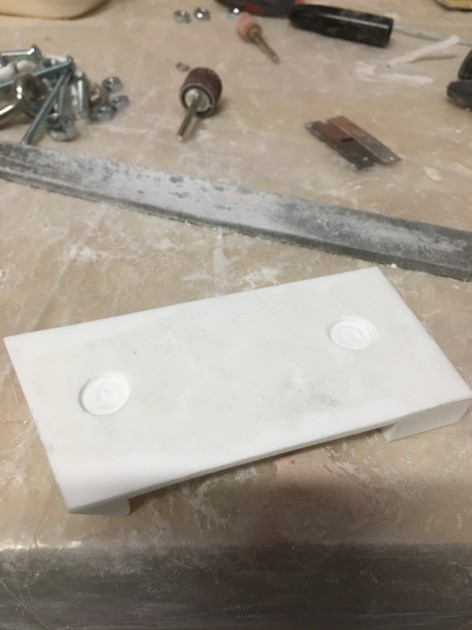 Creating the pocket holes for the screws