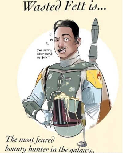 Picture of Boba Fett without a Helmet